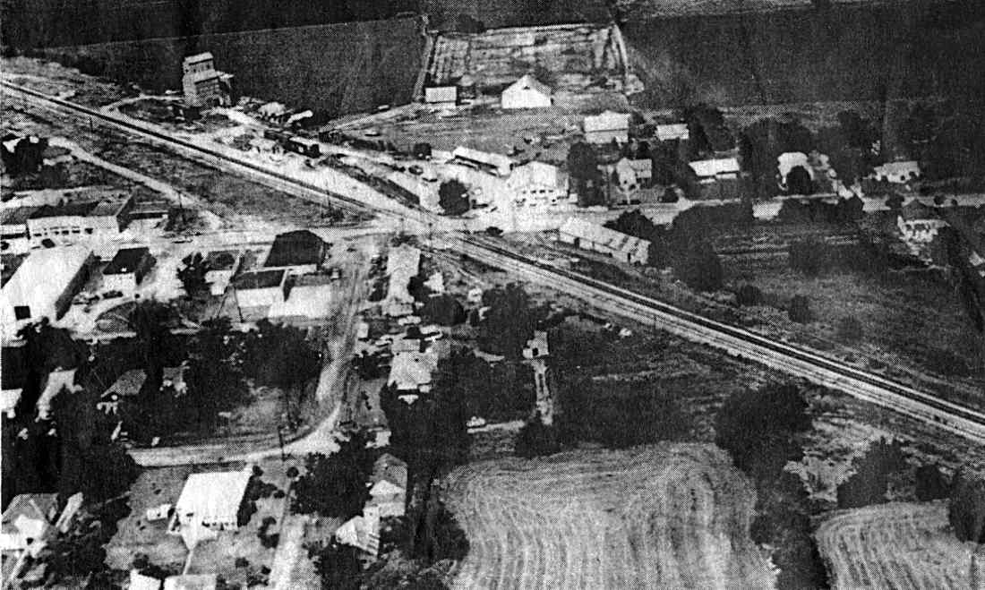 1964 aerial view of Rose Hill.